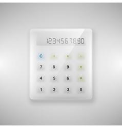 Glass calculator vector image