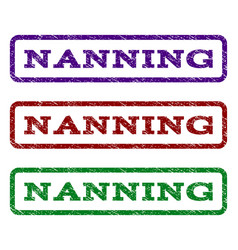 nanning watermark stamp vector image vector image