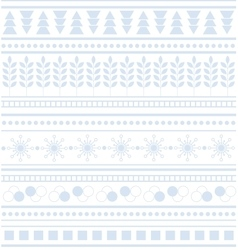 Striped geometric ornament Seamless winter pattern vector image