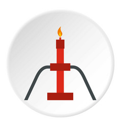 Burning oil gas flare icon circle vector