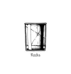 tumbler glass rocks vector image vector image