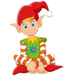 cartoon happy gnome vector image