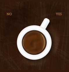 cup of coffee showing yes vector image vector image