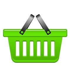 green Basket vector image