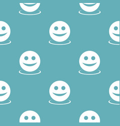 smile pattern seamless blue vector image