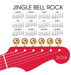 2014 Gingle Bell Rock Calendar vector image vector image