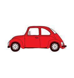 A running car vector image