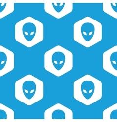 Alien hexagon pattern vector image vector image