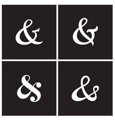 Ampersands vector