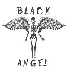 black angel like a skeleton vector image
