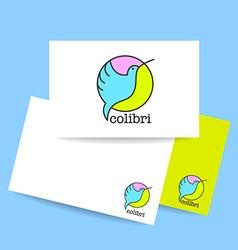 colibri bird sign vector image vector image