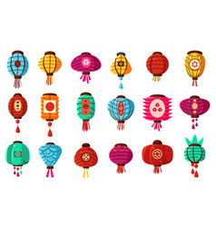 colorful flat cartoon style street paper chinese vector image