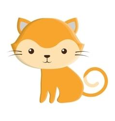 Cute cat kawaii style vector