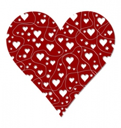 heart with abstract pattern vector image vector image