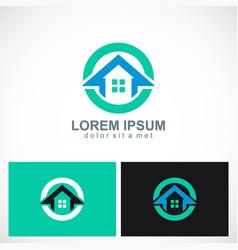 home icon round logo vector image vector image