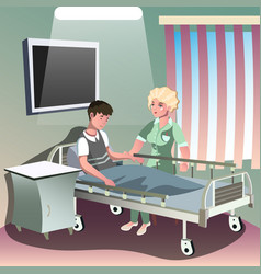hospitalization of the patient vector image vector image