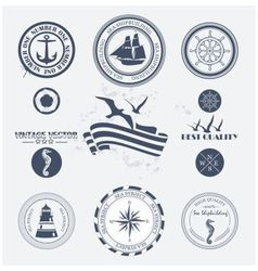 Labels sea vector image
