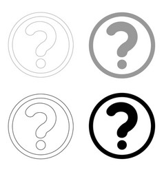 question mark in a circle the black and grey vector image vector image