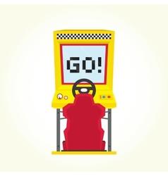 Racing game arcade machine vector image vector image