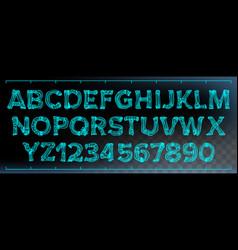 x-ray font transparent roentgen decorative vector image