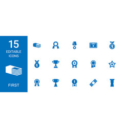 15 first icons vector