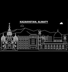 Almaty silhouette skyline kazakhstan - almaty vector