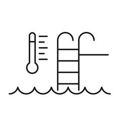 auto temperature pool control icon outline style vector image