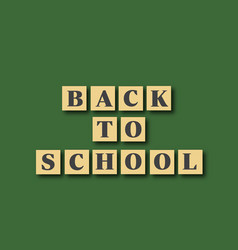 back to school card with cartoon letters vector image