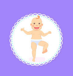 bamilestones period from 1 to 12 month newborn vector image