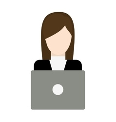 Businesswoman avatar business icon vector