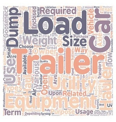 Car hauler Dump trailers Equipment trailer vector image