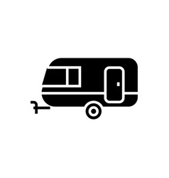 caravan icon black sign on vector image