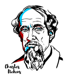 Charles dickens vector