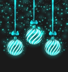 Christmas Dark Shimmering Background vector