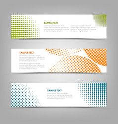 collection banners with color abstract halfone vector image