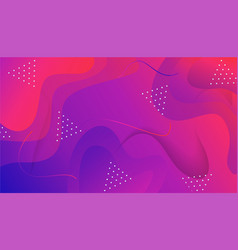composition with fluid and geometric shape vector image