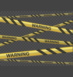 cordon tape with word warning template vector image