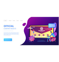 corporate website concept landing page vector image