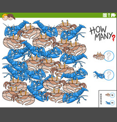 Counting cartoon animals educational task vector