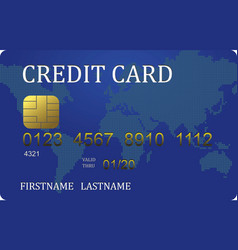 Credit card converted vector