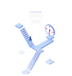deadline concept - modern isometric web vector image