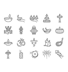 diwali icon vector image