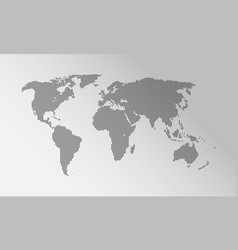 dotted world map flat earth map vector image