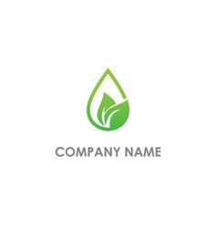 eco droplet leaf organic logo vector image