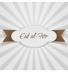 Eid al-fitr decorative paper badge vector