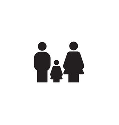 family icon design template isolated vector image