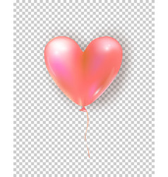 glossy air balloon in heart form realistic air vector image