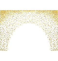 Gold painted dots background vector