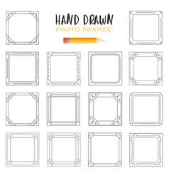 Hand-drawn frames vector