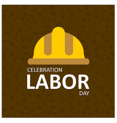 Happy labor day creative typography and workers vector